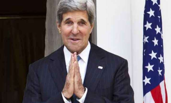 john kerry begins three day india visit
