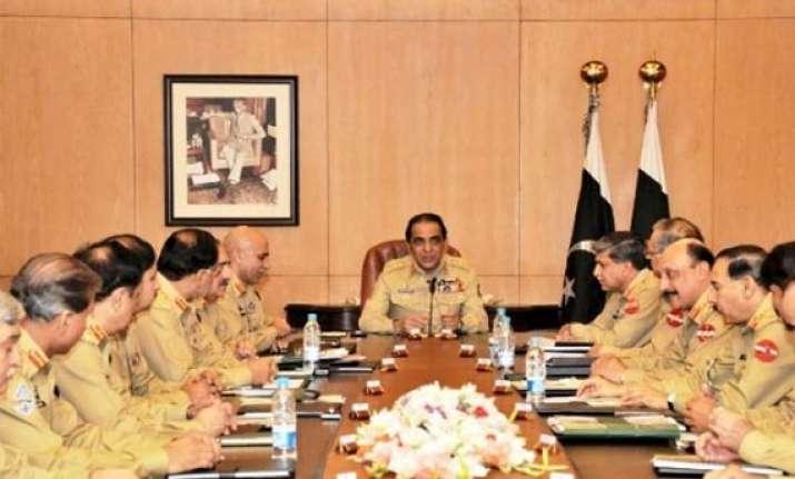 kayani meets top commanders in marathon meeting in ghq