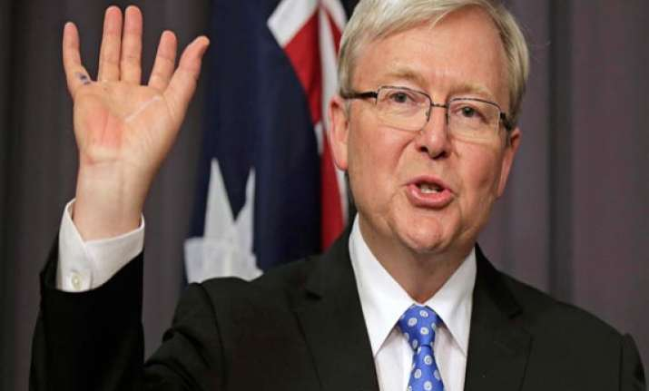kevin rudd sworn in as australia s new prime minister