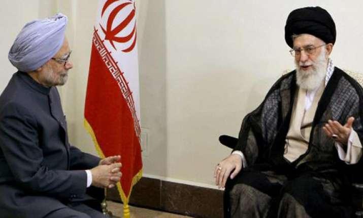 khamenei remembers gandhi nehru in his meeting with pm