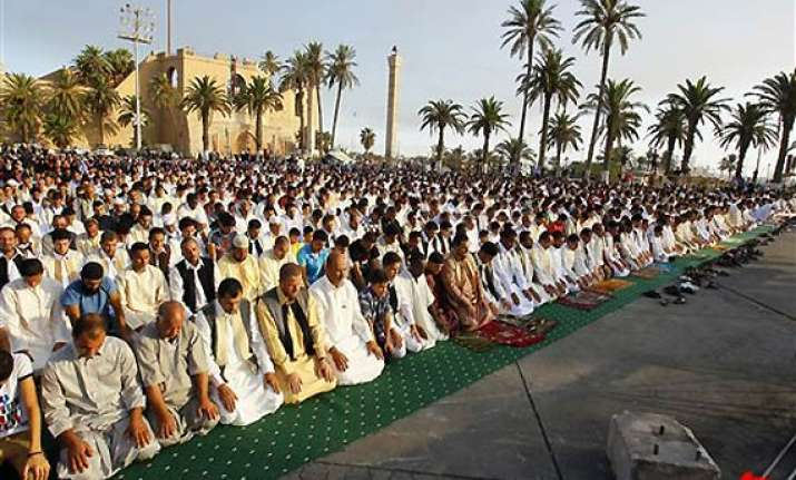 lakhs of libyans celebrate eid without gaddafi