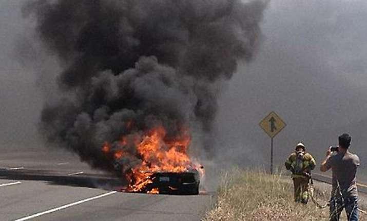 lamborghini catches fire on test drive in us