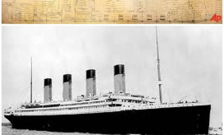 large scale plan of titanic sells for 363 000