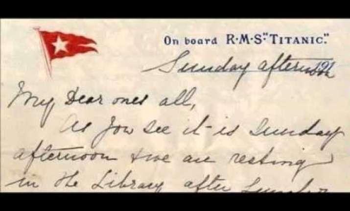 letter written aboard titanic sells for usd 200 000