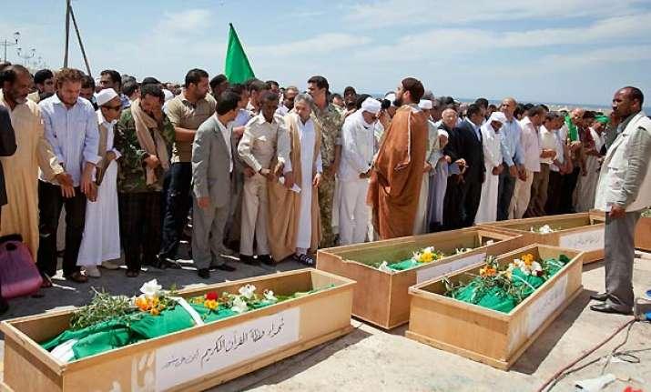 libya buries 11 imams killed in nato strike