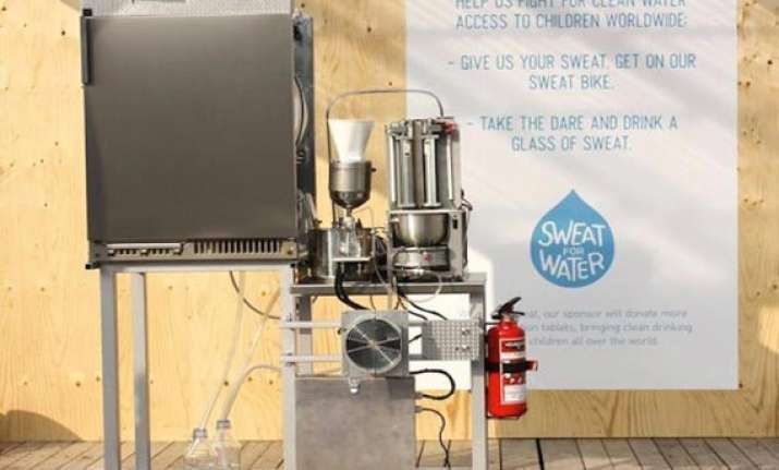 machine turns sweat into drinking water in sweden