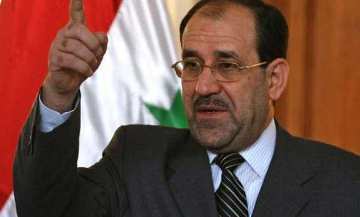 nouri al maliki urges iraqi political blocs to back abadi
