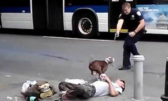 nypd officer shoots a charging pit bull in broad daylight