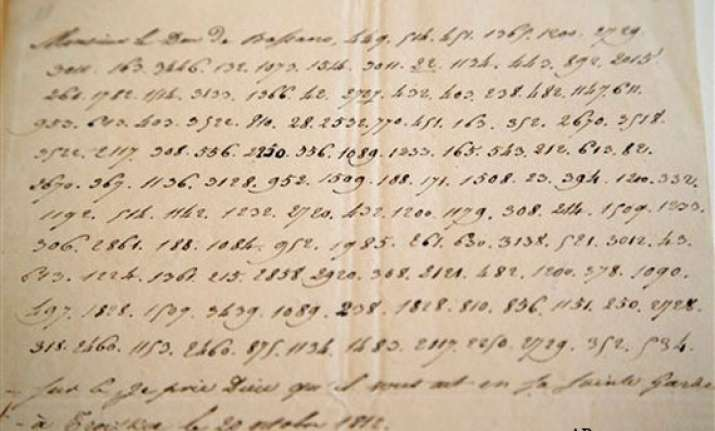 napoleon s secret coded kremlin letter on sale