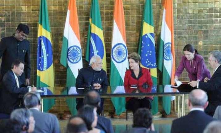 narendra modi meets brazilian president 3 bilateral