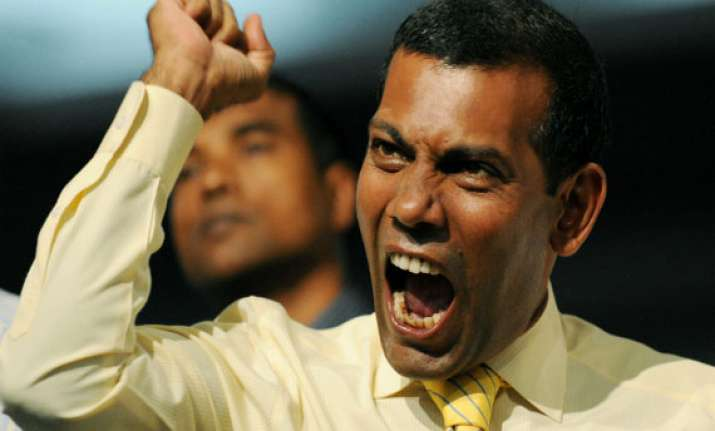 nasheed trial s cancelled indian delegation reaches male