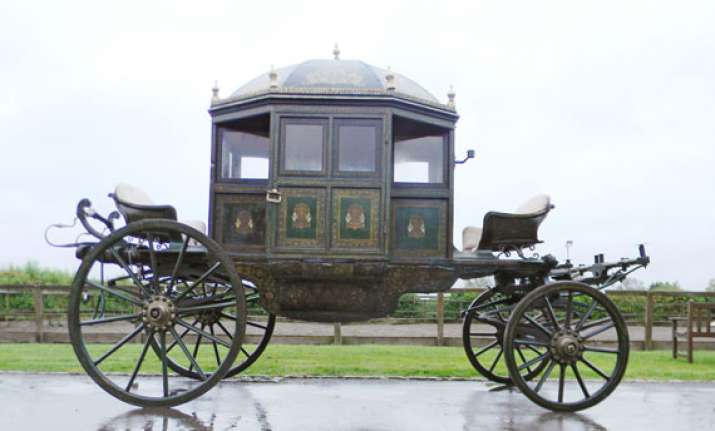 nearly 200 year old indian royal carriage to be auctioned