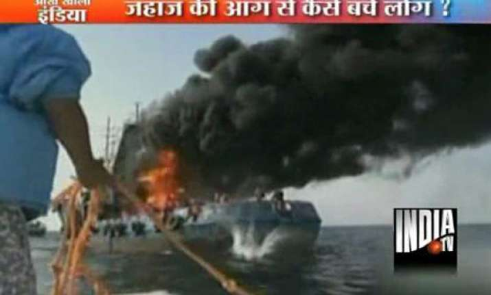 nine sailors rescued from iranian ship on fire in persian