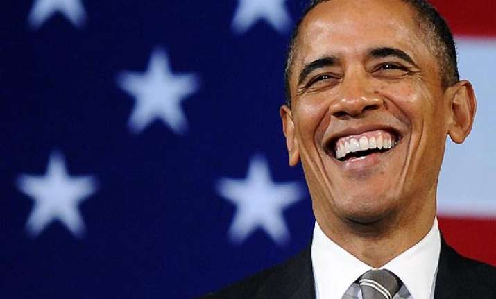 obama laughs and jokes in jay leno show