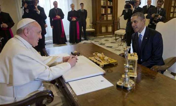 obama tells pope francis he is a great admirer