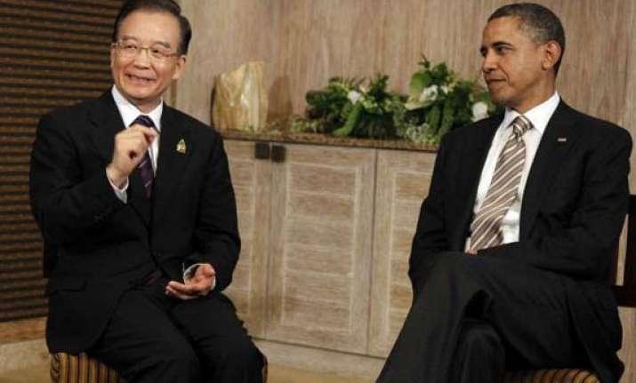 obama wen meet in bali amid disputes