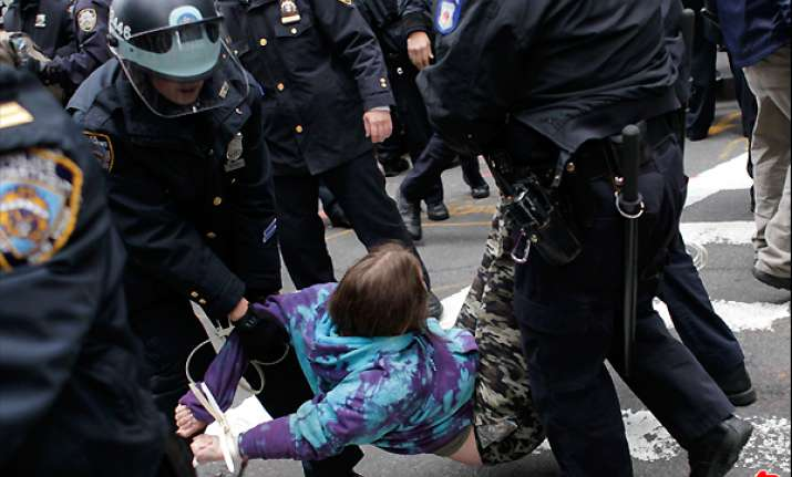 occupy protesters march nationwide 200 arrested
