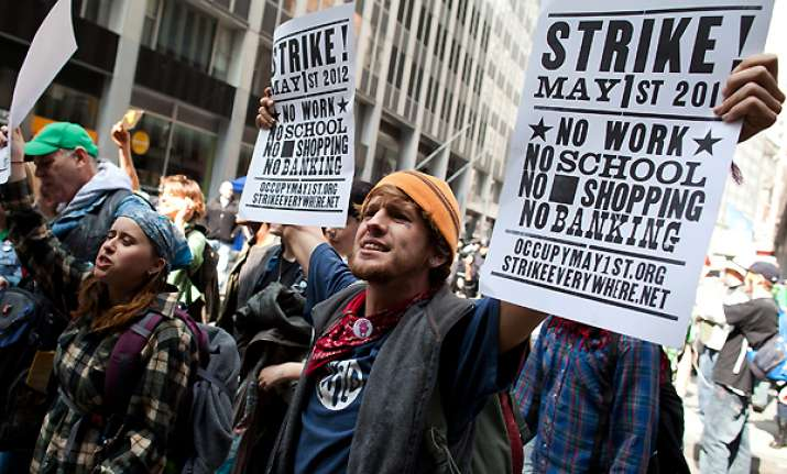 occupy wall street urges may 1 strike over arrests