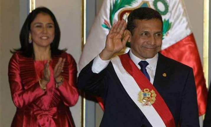 ollanta humala sworn in as peru president