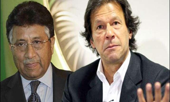 open for an alliance with imran khan s party musharraf