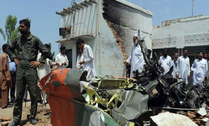 paf fighter aircraft crashes 4 killed