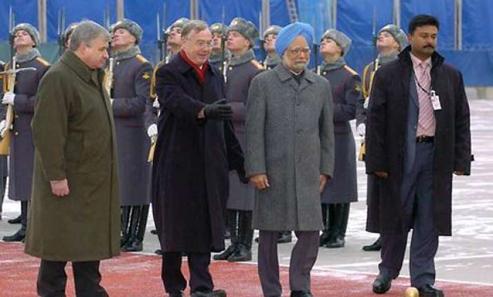 pm arrives in moscow on a three day visit
