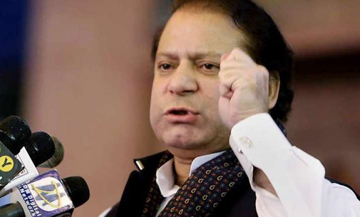 pak to resolve all issues with india through dialogue nawaz