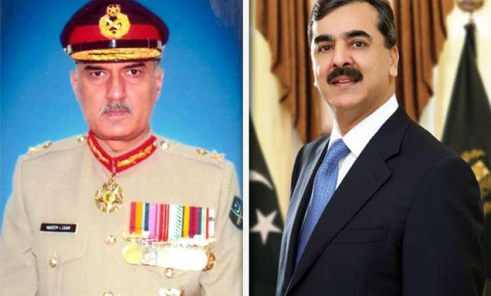 pak army govt on head on collision defence secretary sacked