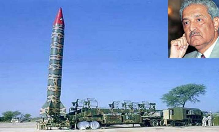 pak nuclear weapons are safe claims a q khan