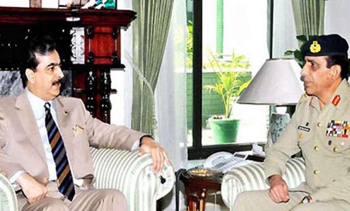 pak pm army chief condemn nato attack lodge protest before