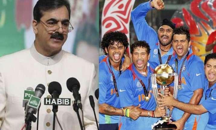 pak pm congratulates india over world cup win