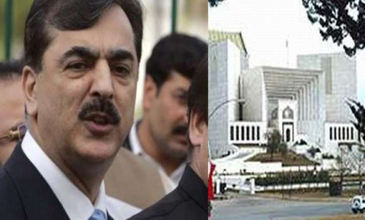 pak pm gilani asked to enter sc building on foot