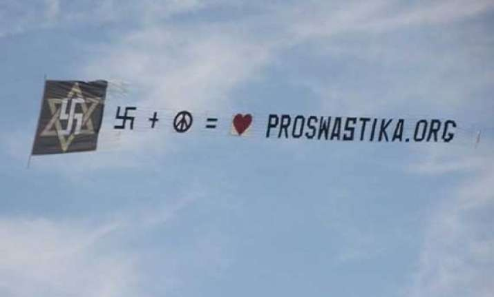 plane flew over new york with a pro swastika banner stir