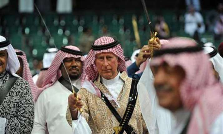 prince charles takes part in saudi dance of the swords