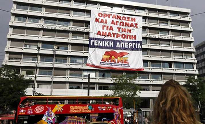 protesters take over finance ministry in athens