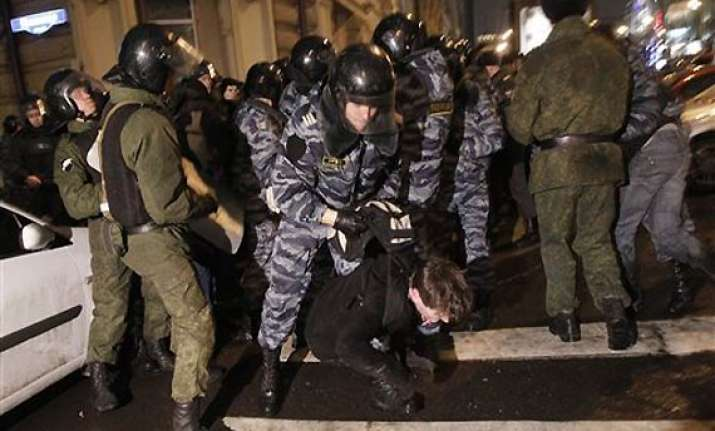 protests arrests in moscow as putin loses sheen