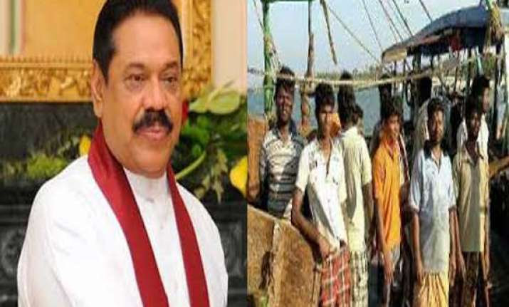 rajapaksa orders release of all indian fishermen
