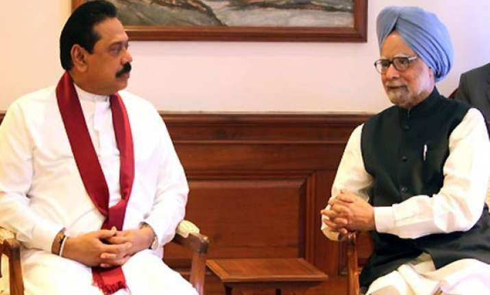 rajapakse agrees indian fishermen must be handled in a