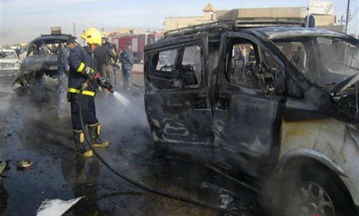rapid fire attacks across iraq kill 55 people