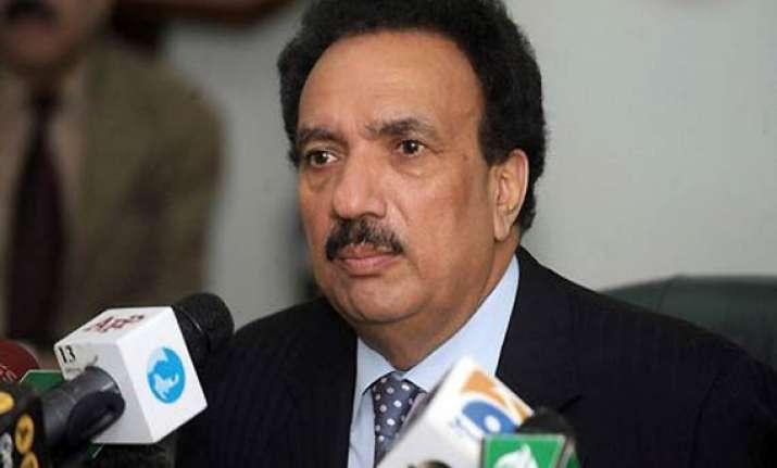 rehman malik thanks taliban is grateful to them