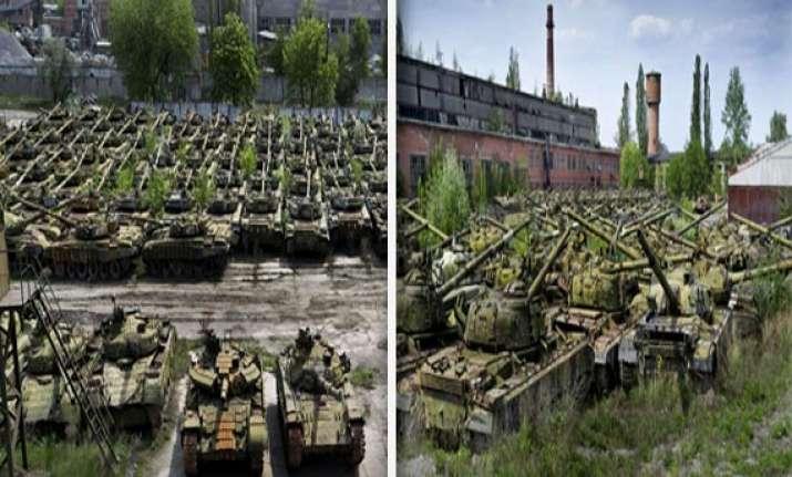 revealed hundreds of rusting tanks abandoned in secret