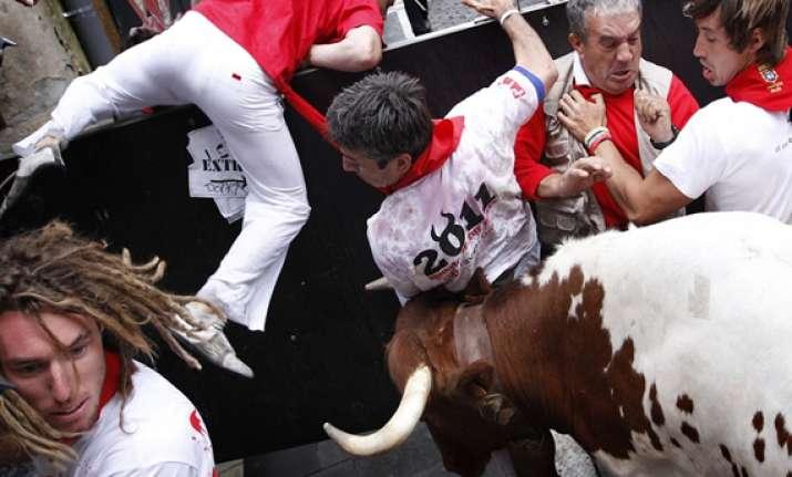 running of the bulls begins in spain
