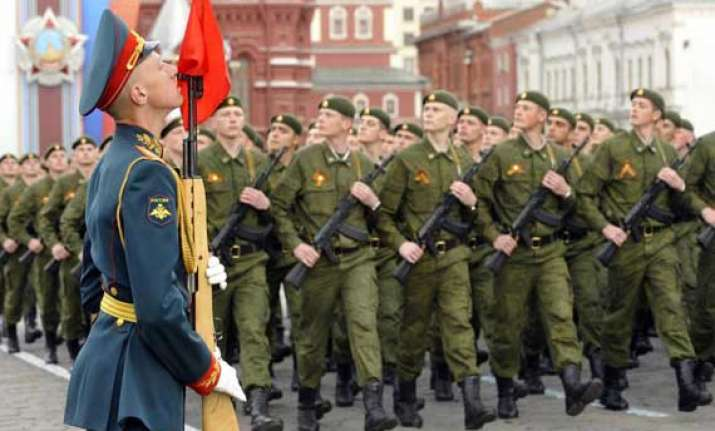 russia stages military parade to celebrate victory day