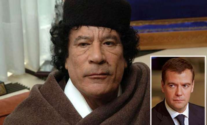 russia offers to mediate gaddafi s early exit