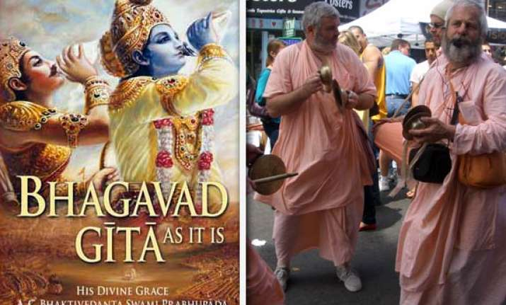 russia says gita not on trial but its commentaries are on
