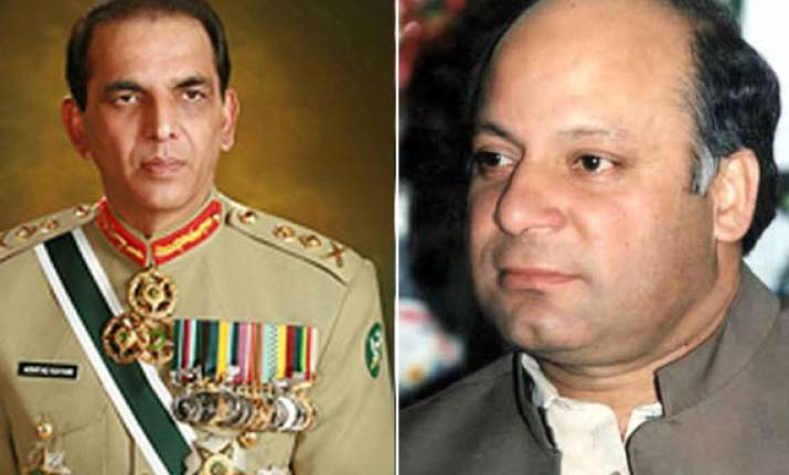 sharif asks kayani to end any meddling by military in