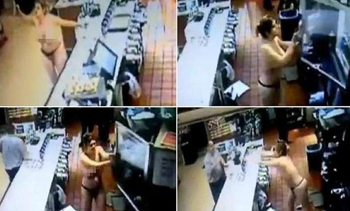 shocking topless woman ransack mcdonald s in florida