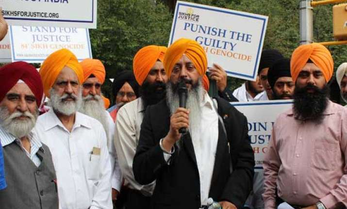 sikhs protest at un on 30th anniversary of bluestar
