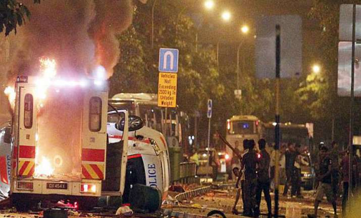 singapore riot defence team of indian national completes