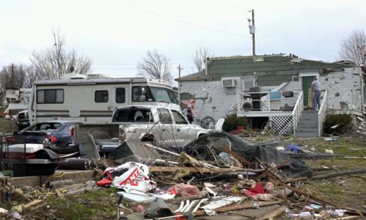 six dead one town gone as tornados rip central us